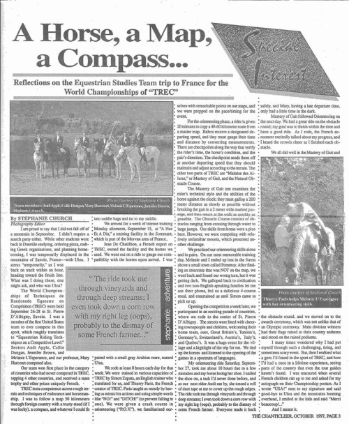 The article as it appeared in Averett's campus newspaper.